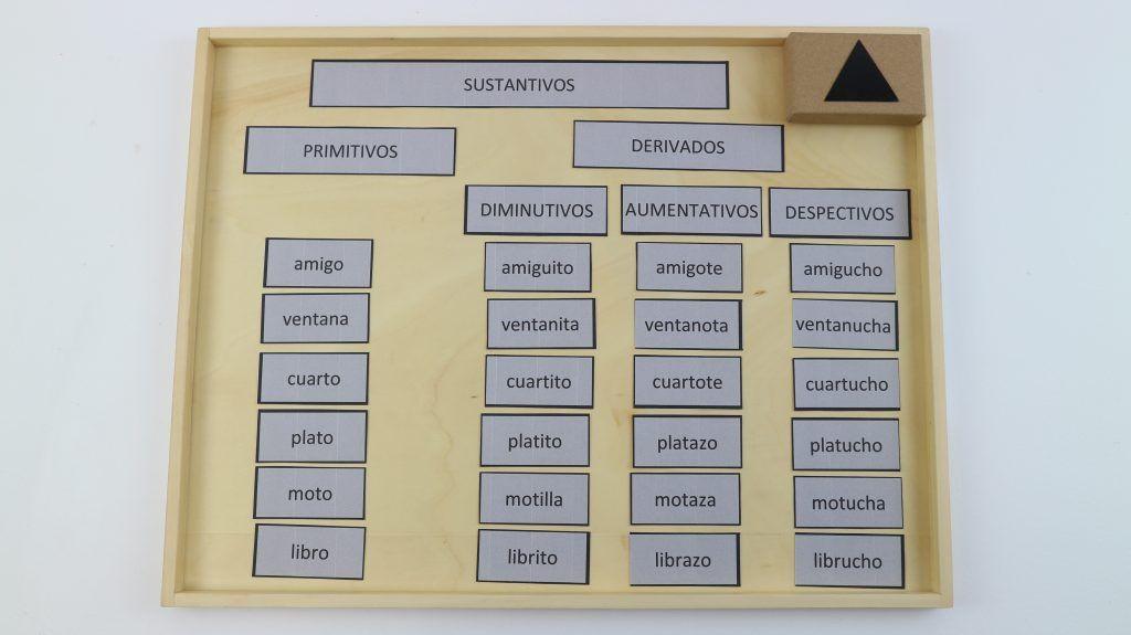 sustantivos montessori