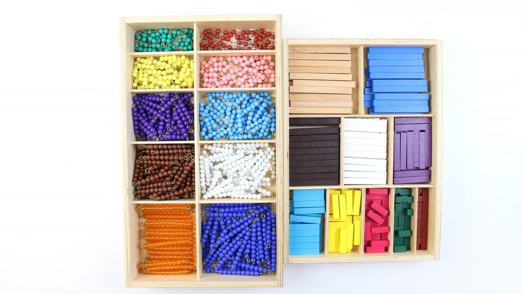 perlas y regletas montessori